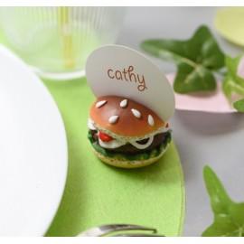 Marque-place hamburger 4 cm les 2