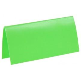 Marque-place rectangle fluo vert carton les 10