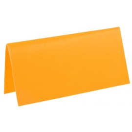 Marque-place rectangle fluo orange carton les 10