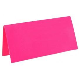 Marque-place rectangle fluo fuchsia carton les 10