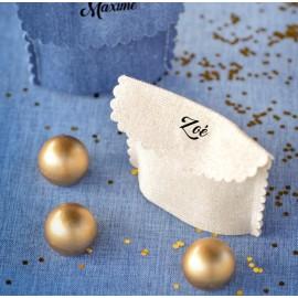 Pochette à dragées coton blanc les 6