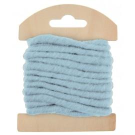 Cordon laine bleu ciel 4 mm x 3 M
