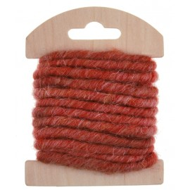 Cordon laine rouge 4 mm x 3 M