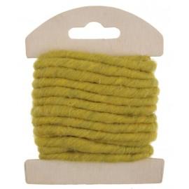 Cordon laine verte 4 mm x 3 M