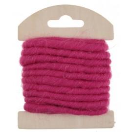 Cordon laine fuchsia 4 mm x 3 M