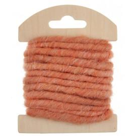Cordon laine corail 4 mm x 3 M
