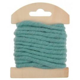 Cordon laine menthe 4 mm x 3 M