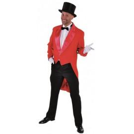 Déguisement queue de pie cabaret rouge homme luxe