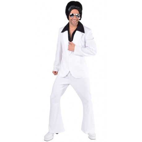 Déguisement Disco Blanc homme luxe style Disco Fever