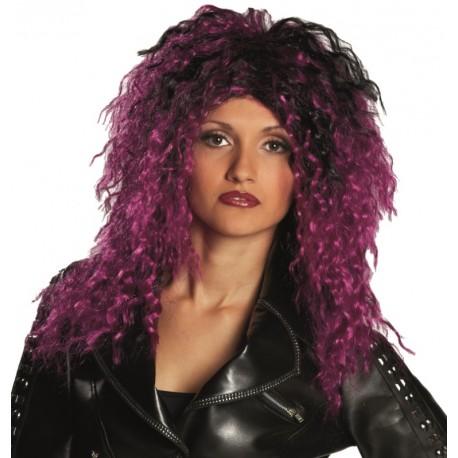 Perruque rock violette et noire femme : achat