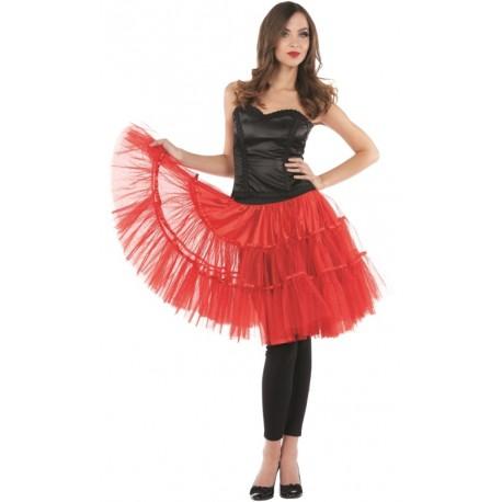 Déguisement jupe tulle rouge femme