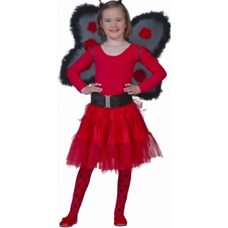 Déguisement jupe tulle rouge fille