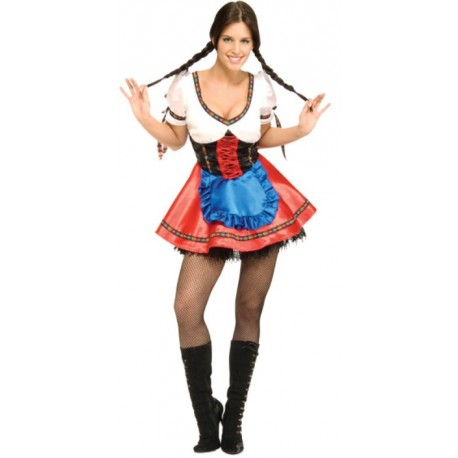 Déguisement bavaroise Heidi femme