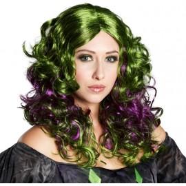 Perruque gothique verte et violette femme