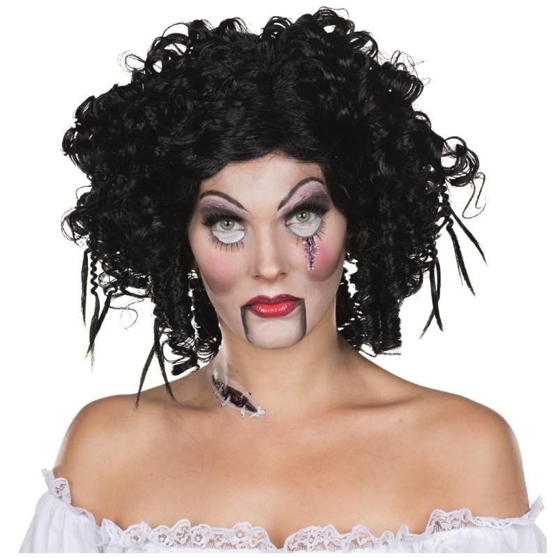 perruque poup e gothique femme perruques poup e halloween horreur. Black Bedroom Furniture Sets. Home Design Ideas