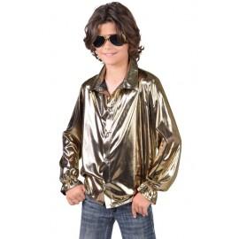 Déguisement chemise disco or garçon luxe