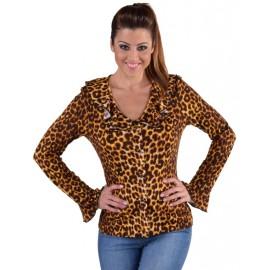 Déguisement blouse léopard femme luxe