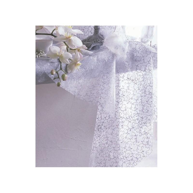 chemin de table arabesque blanc or achat chemin de table. Black Bedroom Furniture Sets. Home Design Ideas