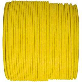 Cordon papier jaune laitonné 20 M