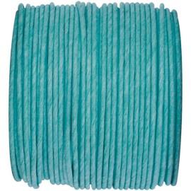 Cordon papier turquoise laitonné 20 M