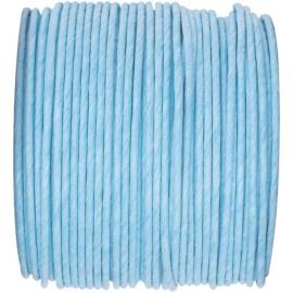 Cordon papier bleu ciel laitonné 20 M