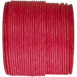 Cordon papier rouge laitonné 20 M