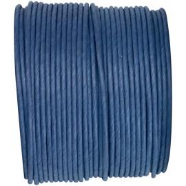 Cordon papier bleu marine laitonné 20 M