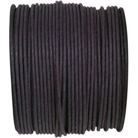 Cordon papier noir laitonné 20 M