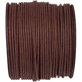 Cordon papier chocolat laitonné 20 M