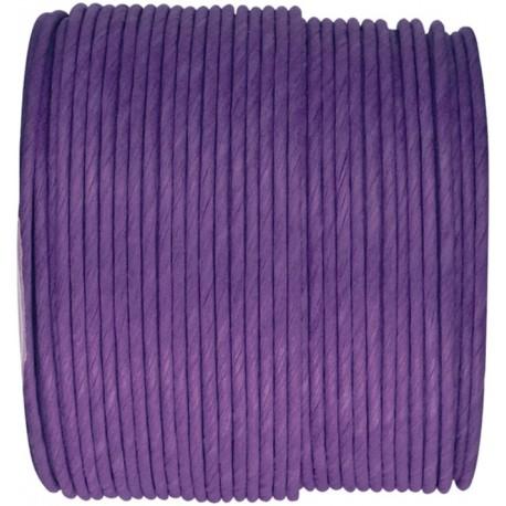 Cordon papier violet laitonné 20 M
