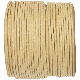 Cordon papier ivoire laitonné 20 M