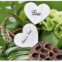 Confettis coeur dentelle blanc les 12