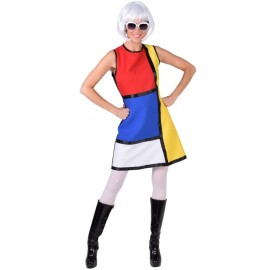 Déguisement Années 60's Modern Art femme luxe