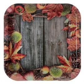 Assiette carton automne 23 cm les 10