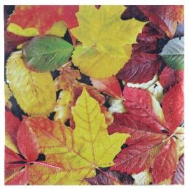 Serviette de table automne papier les 20