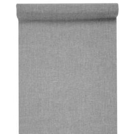 Chemin de table gris en tissu 5 M