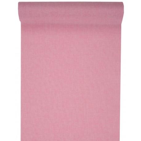 Chemin de table rose en tissu 5 M