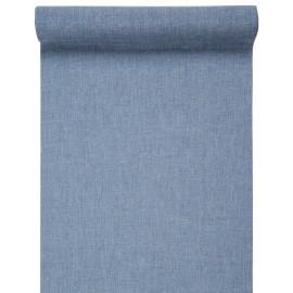 Chemin de table bleu ciel en tissu 5 M