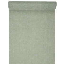 Chemin de table vert en tissu 5 M