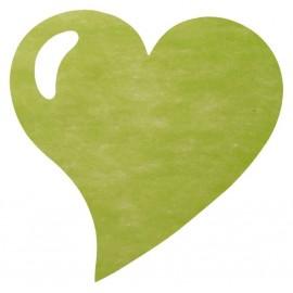 Set de table coeur vert anis intissé les 50