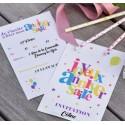 Cartes invitation joyeux anniversaire les 6