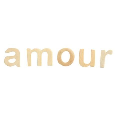 Lettres amour en bois ivoire décoratives