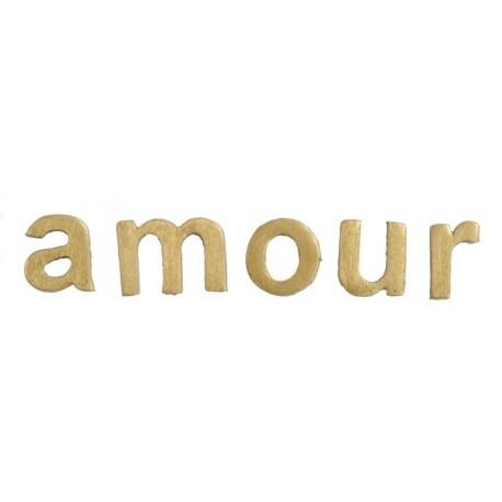 Lettres amour en bois or décoratives