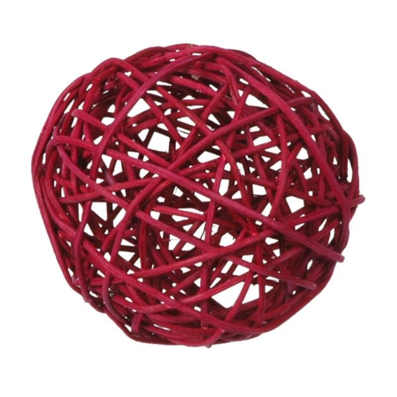boule rotin bordeaux en 3 tailles les 10 achat boule de. Black Bedroom Furniture Sets. Home Design Ideas