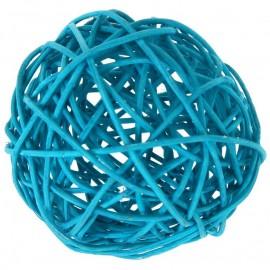 Boule rotin turquoise en 3 tailles les 10