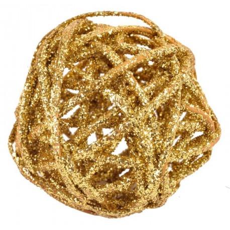 Boule rotin or pailletée en 3 tailles les 10
