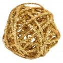 Boules rotin or pailletées en 3 tailles les 10