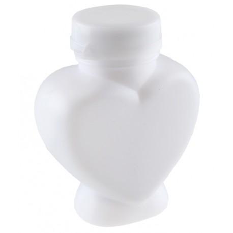 Flacon coeur bulle de savon les 4