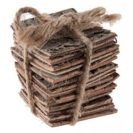 Fagot d'écorces de bois déco 5 cm
