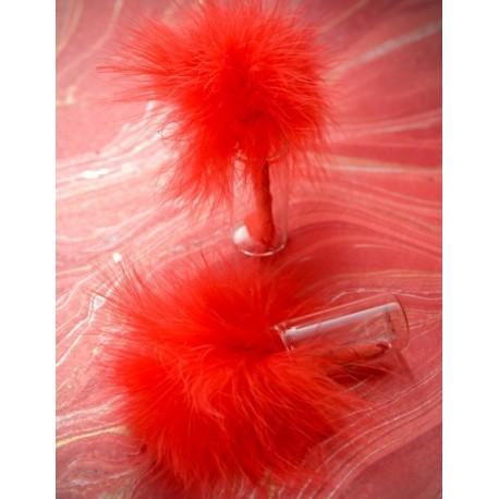 Plume rouge x 20 décoration plumes